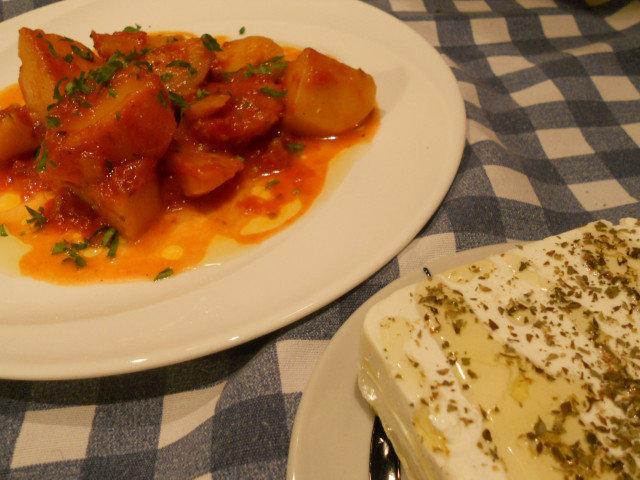 Grčka janija sa krompirom bez mesa (Пatates Yiaxvi)