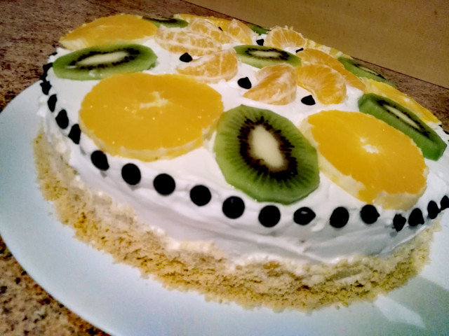 Voćna torta za dva sata